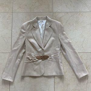 Escada Blazer Cashmere Silk Wool With Belt Sz 38